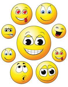 Bilde av Vindusdekor Happy Face, selvklebende folie, 9 stk