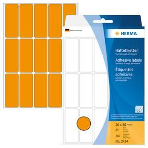 Bilde av HERMA fargede etiketter, lys oransje 20x50 mm
