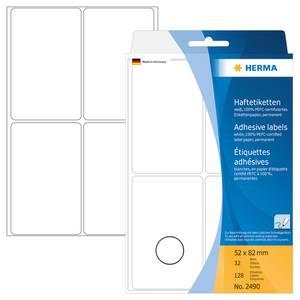 Bilde av HERMA standardetiketter, hvit 52x82 mm (128 stk)