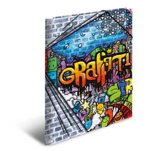 Bilde av HERMA strikkmappe i plastmateriale, A3, Graffiti