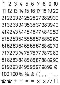 Bilde av VARIO talletiketter 5 mm, 1-100, svart/klar 2 ark