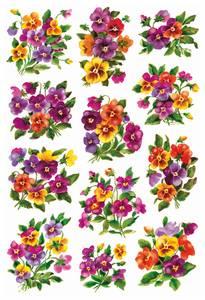 Bilde av DECOR Stickers Blomsterbukett, glitter, 2 ark (10