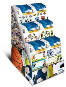 Bilde av Display Fotball, DECOR Stickers 6 motiver, 60