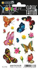 Bilde av CLASSIC Tattoos Colour Art, Sommerfugler, 1 ark