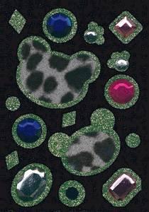 Bilde av GLAM ROCKS stickers Bamsehoder, 1 ark (10 pakk)