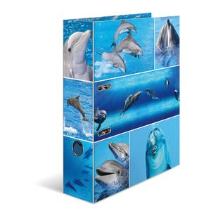 Bilde av HERMA ringperm i kartong, Delfiner (10 pakk)