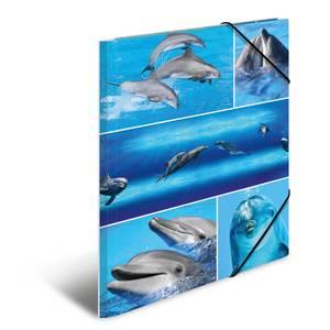 Bilde av Strikkmappe i robust kartong, A4, Delfiner (3
