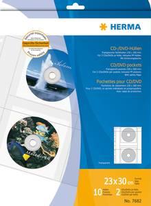 Bilde av CD/DVD plastlommer inkl. papir, 2 stk per lomme,