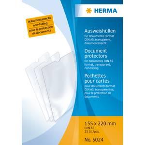 Bilde av HERMA plastlommer i klar plast 155x220 mm, A5 (25
