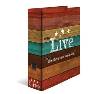 Bilde av HERMA ringperm i kartong, A4, Woody Live (10