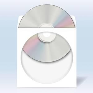 Bilde av CD/DVD lommer 124x124mm, selvkl. bakside, hvit